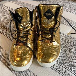 Nike Lebron Gold Sneakers